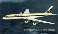 air001399 - Deltas Modern Jet Douglas DC-8 Fanjet Airplane, Aviation, Postcard Post Card
