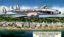 air001402 - Eastern Airlines Turbo Compound Powered Super C Constellation, Miami Beach, FL USA Airplane, Aviation, Postcard Post Card