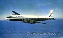 air001416 - United Airlines Four Engine DC-7 Mainliners  Airplane, Aviation, Postcard Post Card