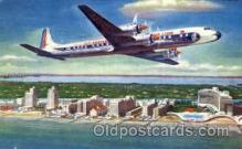air001424 - Eastern Airlines Golden Falcon DC-7B Airplane, Aviation, Postcard Post Card