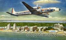 air001425 - Eastern Airlines Golden Falcon DC-7B Airplane, Aviation, Postcard Post Card