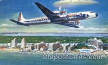 air001427 - Eastern Airlines Golden Falcon DC-7B Airplane, Aviation, Postcard Post Card