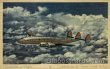 air001431 - Constellation In Flight Airplane, Aviation, Postcard Post Card