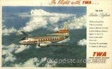 air001432 - TWA New Martin Skyliner Airplane, Aviation, Postcard Post Card