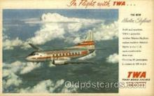 air001433 - TWA New Martin Skyliner Airplane, Aviation, Postcard Post Card