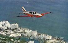 air001437 - Beech craft Model 55 Baron, Miami Beach, FL, USA Airplane, Aviation, Postcard Post Card