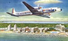 air001440 - Eastern Airlines Golden Falcon DC-7B Airplane, Aviation, Postcard Post Card