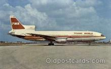 air001449 - TWA-Trans World Airlines Lockheed L-1011 Airplane, Airport Post Card, Post Card
