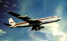 air001450 - TWA-Trans World Airlines Boeing 707 Airplane, Airport Post Card, Post Card