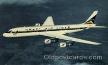 air001452 - Delta Air Lines Douglas DC-8 Fanjet Airplane, Airport Post Card, Post Card