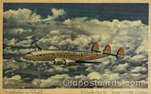 air001462 - Trans World Airline Constellation Airplane, Airport Post Card, Post Card