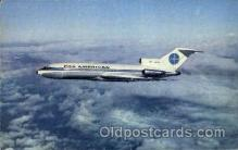 air001476 - Pan American 727 Airplane, Airport Post Card, Post Card