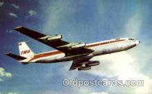 air001479 - TWA-Trans World Airlines Boeing 707 Airplane, Airport Post Card, Post Card