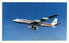 air001481 - TWA-Trans World Airlines Star Stream Airplane, Airport Post Card, Post Card