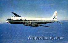 air001494 - United Air Lines DC-7 Mainliner Airplane, Airport Post Card, Post Card