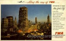 air001607 - Trans World Airline Airplane, Airport Post Card, Post Card
