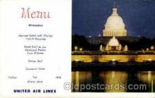 air001620 - United Air Lines Airplane, Airport Post Card, Post Card