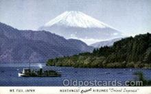 air001622 - Northwest Orient Airlines Mt. Fuji Airplane, Airport Post Card, Post Card