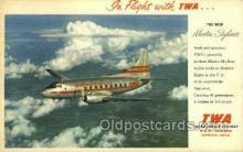 air001641 - Martin Skyliner TWA Airplane, Airlines, Old Vintage Antique Postcard Post Card
