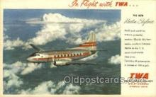air001642 - Martin Skyliner TWA Airplane, Airlines, Old Vintage Antique Postcard Post Card