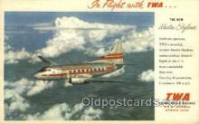 air001643 - Martin Skyliner TWA Airplane, Airlines, Old Vintage Antique Postcard Post Card