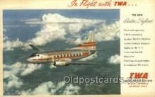 air001645 - Martin Skyliner TWA Airplane, Airlines, Old Vintage Antique Postcard Post Card