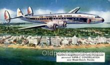 air001647 - Super c Constellation Eastern Airplane, Airlines, Old Vintage Antique Postcard Post Card