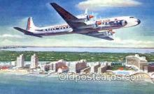 air001651 - Eastern Airlines Golden Falcon DC 7B Airplane, Airlines, Old Vintage Antique Postcard Post Card
