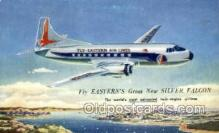 air001655 - Eastern Airlines Silver Falcon Airplane, Airlines, Old Vintage Antique Postcard Post Card