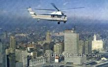 air001665 - Chicago Helicopter Airways Airplane, Airlines, Old Vintage Antique Postcard Post Card