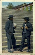 amh001002 - Amish Men Lancaster County, PA USA Amish Post Card, Post Card