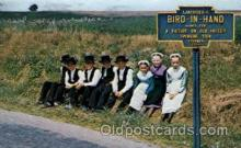 amh001010 - Bird In Hand Amish Children Amish Post Card, Post Card