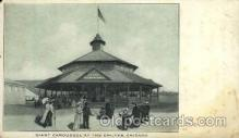 amp000003 - Merry Go Round, Giant Caroussel, Chutes, Chicago, Illinois, IL, USA Amusment Park, Fairgrounds, Postcard Post Card