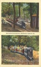 amp001089 - Blue Mountain Railway, Braddock Heights, MD, USA Amusement Park Parks Postcard Post Card