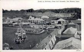 amp001104 - Des Moines, Iowa, USA Midway,State Fair Grounds Des Moines Iowa Amusement Park Post Card Post Card