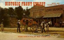 amp001161 - Historic Front Street Boot Hill, Dodge City, KS USA Amusement Park Parks, Postcard Post Card
