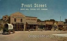 amp001170 - Front Street Boot Hill, Dodge City, KS USA Amusement Park Parks, Postcard Post Card