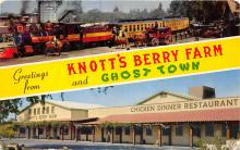 amp005064 - Knott's Berry Farm, Ghost Town, California, CA, USA Postcard
