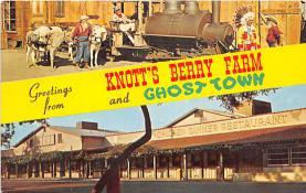 amp005192 - Knott's Berry Farm, Ghost Town, California, CA, USA Postcard
