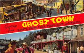 amp005196 - Knott's Berry Farm, Ghost Town, California, CA, USA Postcard