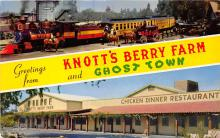 amp005272 - Knott's Berry Farm, Ghost Town, California, CA, USA Postcard