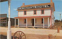 amp016014 - First Cattlemen's Hotel, Merchants Hotel, Old Abilene, Kansas, KS, USA Postcard