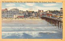 amp019044 - Old Orchard Beach, Maine, ME, USA Postcard