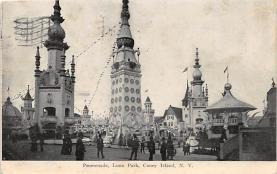 amp100805 - Amusement Park Postcard Post Card