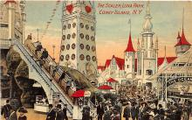 amp100809 - Amusement Park Postcard Post Card