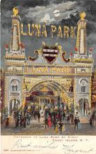 amp100817 - Amusement Park Postcard Post Card