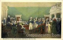 amr001005 - Resignation of General Washington, Dec. 23, 1783 American History Postcard Post Card