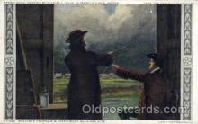 amr001017 - Benjamin Franklin's Kite Experiment American History Postcard Post Card