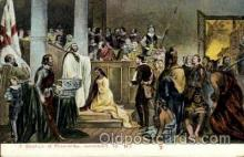 amr001033 - Baptism of Pocahontas 1613, Jamestown, Virginia, VA USA, American History Postcard Post Card