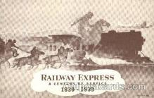 and000043 - Iron horse, Railway express, Curl Burger, 1839-1939 Animal Drawn Postcard Post Card